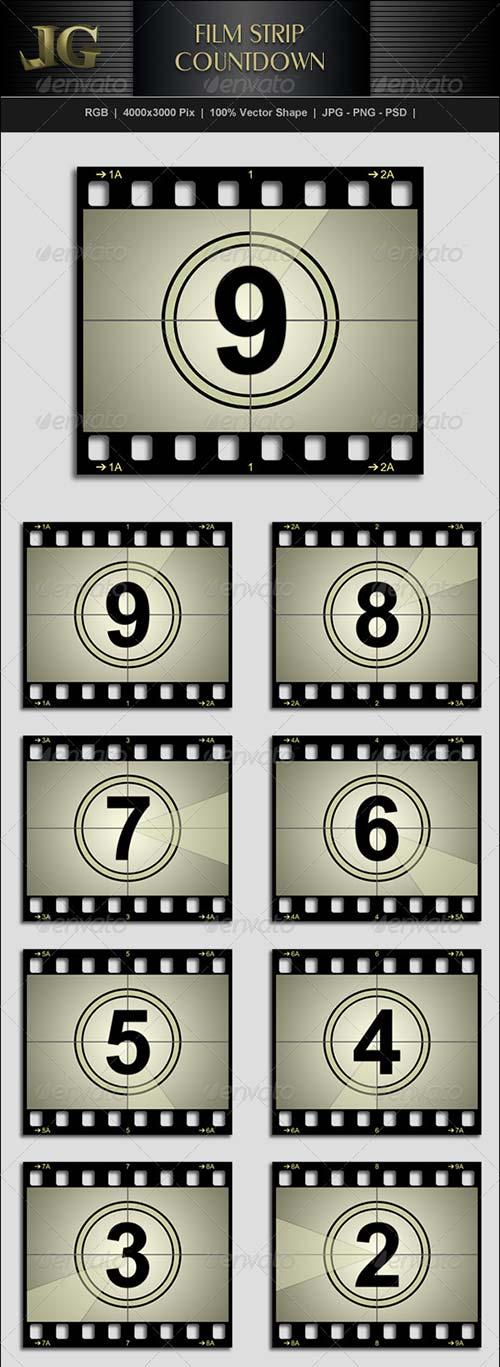 GraphicRiver Movie Strip Countdown