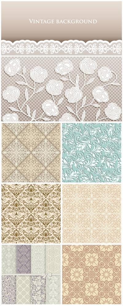 Classic vintage seamless pattern, vector backgrounds