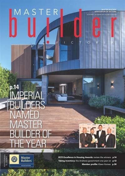 Master Builders Victoria - NovemberDecember 2015