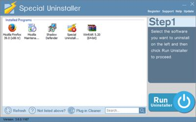 Special Uninstaller 3.6.0.1167 + Portable