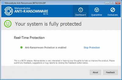 Malwarebytes Anti-Ransomware v0.9.5.304 Beta 2