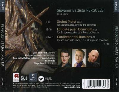 Pergolesi - Stabat Mater (Julia Lezhneva, Philippe Jaroussky) / 2013 Erato