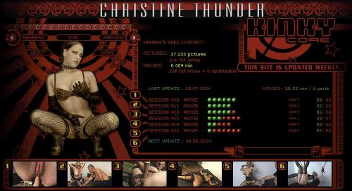 KinkyCore (Christine Thunder BDSM)   Full SiteRip on Upstore