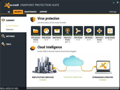 Avast Endpoint Protection Suite v8.0.1603 + License