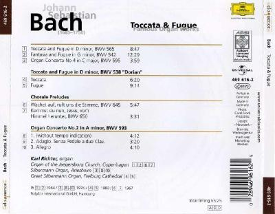 Karl Richter – Bach : Toccata & Fugue (Famous Organ Works) / 2010 DG
