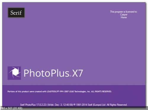 Serif PhotoPlus X7 v17.0.2.22 (Win32/Win64)
