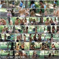 CollegeFuckParties - Veronica, Roxi, Olympia - Hot College Fucking In The Woods Part 1 [HD 720p]