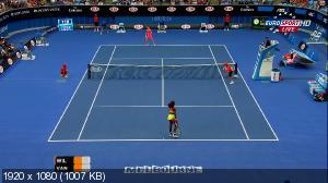 Теннис. Australian Open 2015. 1-ый круг. [1] Серена Уильямс (США) - Элисон Ван Эйтванк (Бельгия) [20.01] (2015) HDTV 1080i