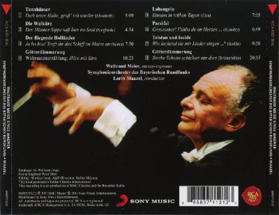 Waltraud Meier Sings Wagner (Lorin Maazel, Symphonieorchester des Bayerischen Rundfuns ) / 2013 Sony Music Entertainment